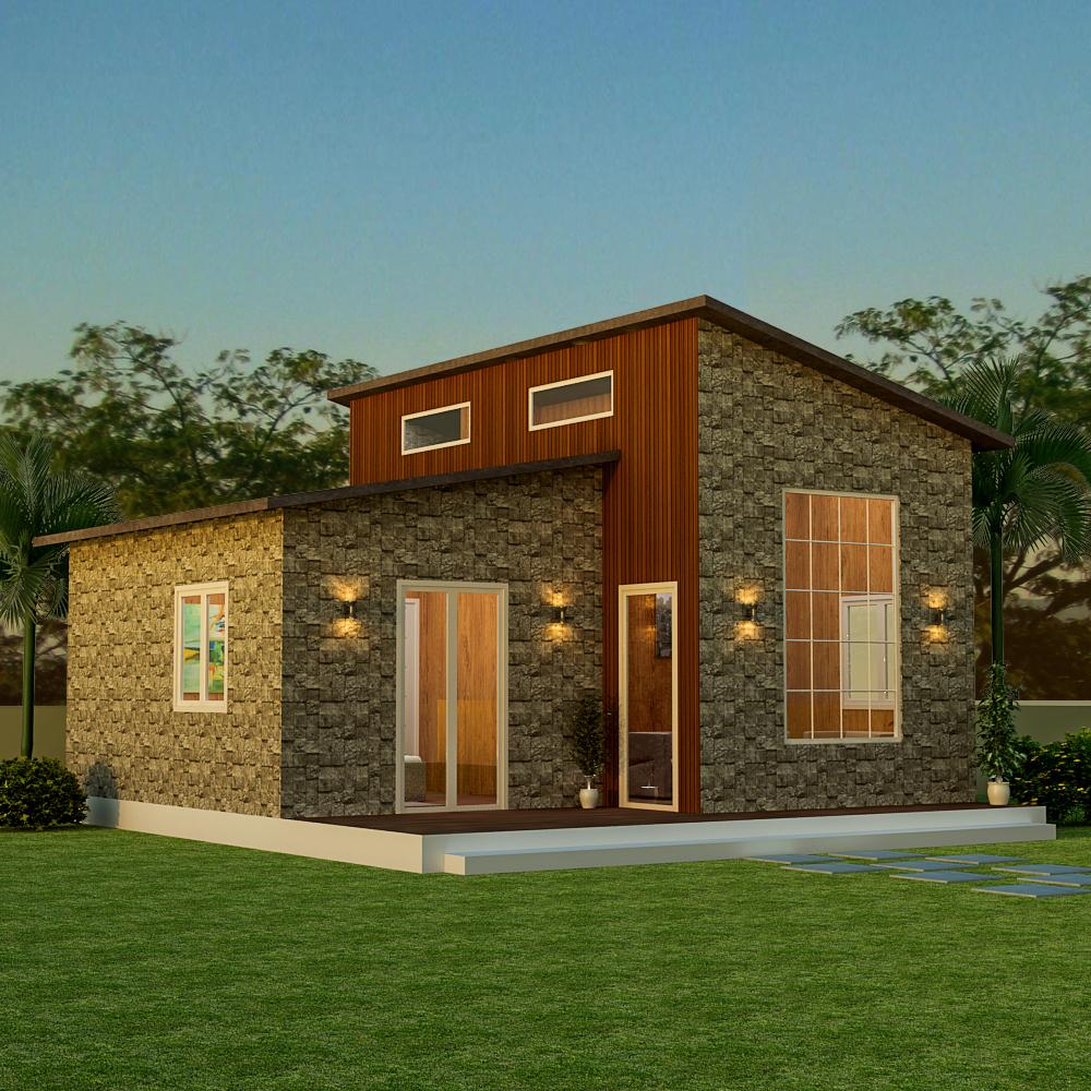 1 Bhk Farm House Plans
